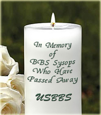 Bulletin Board System Memorial Candle